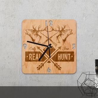 """Настенные часы из древесины """"Real Hunt"""""""