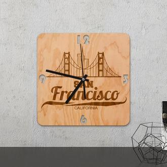 """Настенные часы из древесины """"San Francisco"""""""
