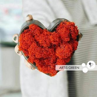 Бетонное сердце со скандинавским мхом