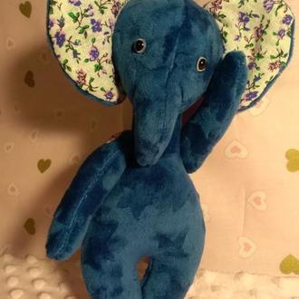 Слоник текстильна іграшка тедді слоник плюшевий