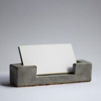 Настільна візитниця з бетону, бетонная визитница