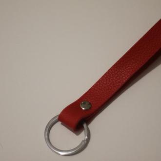 ремешок с кольцом. для ключей , брелков.красный 14см ''love story''
