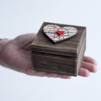 Свадебная шкатулка для колец или для помолвки