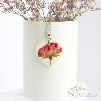 Підвіска Троянда в серці ~ кулон сердце с розой
