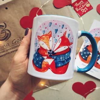 """Чашка с авторским принтом """"Мріяти поруч з тобою"""""""