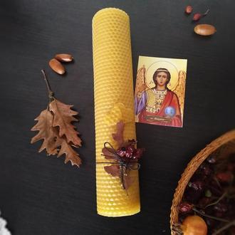 Свічка з вощини на захист та лад у сім'ї