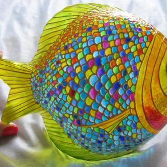 «Блюдо Рыбка» роспись стекла