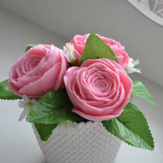 """Букет из сувенирного мыла """"Чайные розы"""""""