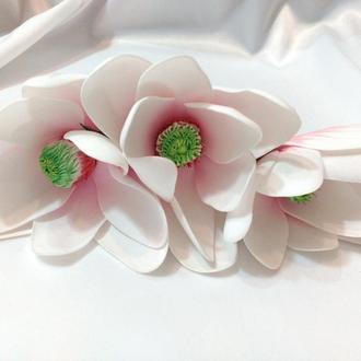 Гребень с цветами Магнолии