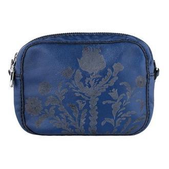 Сумка шкіряна жіноча, через плече, синя | Franko small bag blue