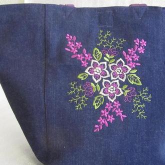 Миленькая джинсовая сумка