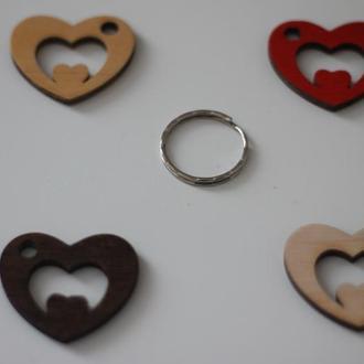 "Брелок Сердце с кольцом ""Love story"" 1"