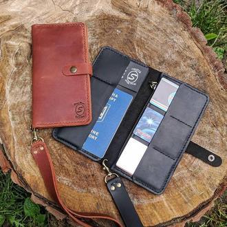 Travel wallet 1.0 Гаманець Портмоне Кошелек Бумажник Натуральная кожа