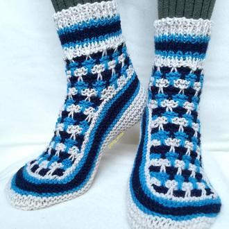 Теплі вовняні шкарпетки носки носочки вязаные зимние