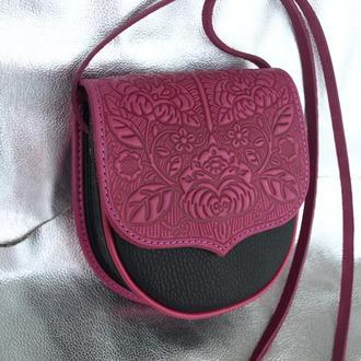 сумка шкіряна Петриківка