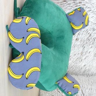 Набор путешественника: подушка на шею и маска для сна (НПМ015)