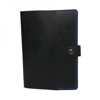 Обложка обкладинка для блокнота чи щоденника формату А5 темно-синя