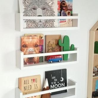 Полка настенная для книг дерев'яна поличка ручной работы полочка из дерева