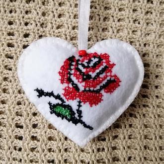 Валентинка с розой