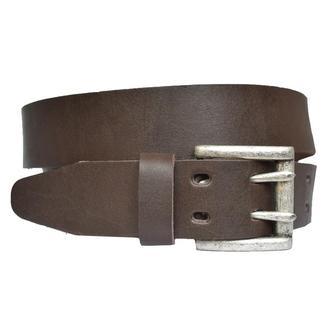 Robust коричневый кожаный мужской ремень пояс для джинсов кожанный ремінь шкіряний