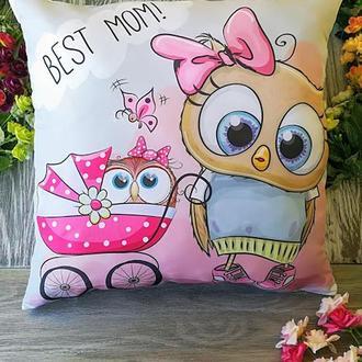 Подушка совушка Best mom!