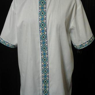 Мужская сорочка ручная вышивка
