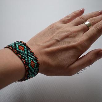 Браслет из бисера, этнический браслет, этно браслет, хиппи браслет