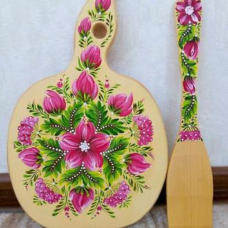 Кухонный набор, петриковская роспись