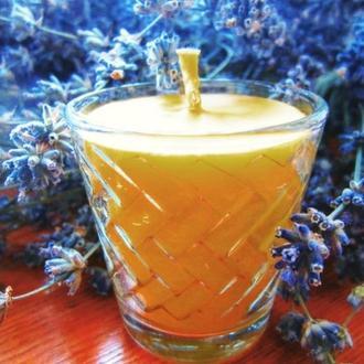 Аромасвеча лечебная от гриппа и простуды из натурального пчелиного воска