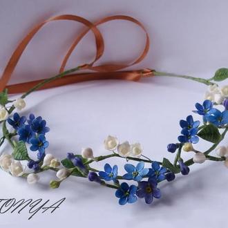 Ободок с цветами(обруч,венок)