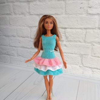 Платье на Барби, одежда на куклу Барби