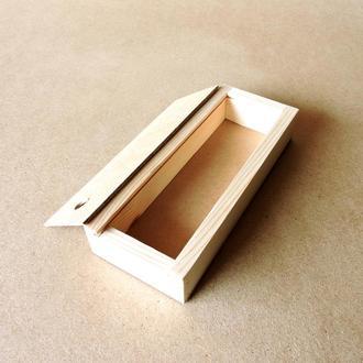 Пенал деревянный Ландыш 12х25х4см