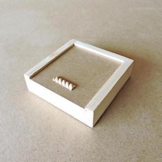 Пенал деревянный Ландыш 15х15х4см