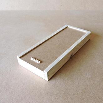 Пенал деревянный Ландыш 15х35х4см
