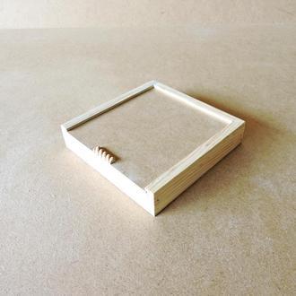 Пенал деревянный Ландыш 20х20х4см
