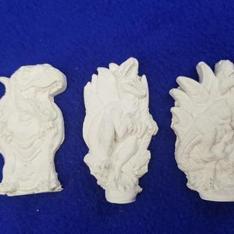 Набор заготовок для декорирования из гипса – Динозавры