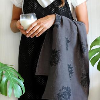 Льняное кухонное полотенце