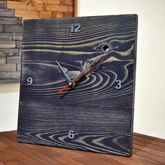 """Часы """" Квадрат 2.0 """" Часы из натурального дерева , Стильный Лофт"""