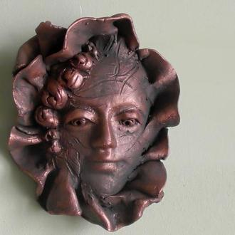 Маска интерьерная лицо декор на стену