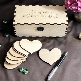 Коробочка с сердечками для пожеланий
