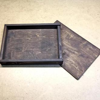 Пенал деревянный 25х34х5 (А4) Венге
