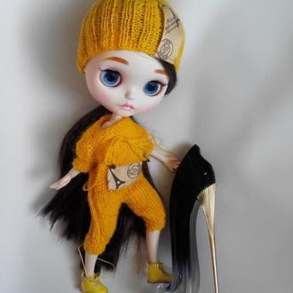 Комплект: комбинезон, шапка БИНИ для куклы Блайз, Айси