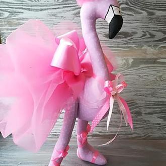 Игрушка розовый фламинго