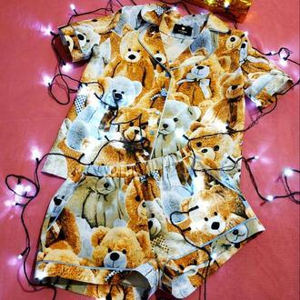 Домашняя пижамка с мишками