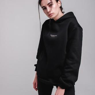 Черный худи Proseccas на флисе от бренда Don na Telo