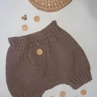 Вязаные трусики-шортики детские
