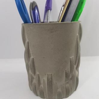 Стакан для ручек и карандашей из бетона, сделанный вручную, стиль Loft