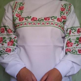 """Вишита бісером заготовка сорочки """"Троянди"""""""