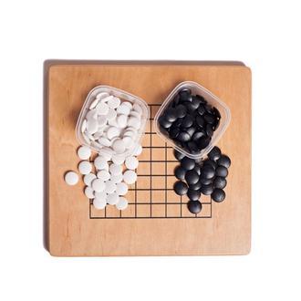 Доска для игры в Го 13х13/9х9 (покрытие масло-воск) с набором камней