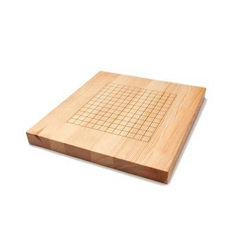 Доска для игры в Го 19х19/13х13 из дерева (массив сосна) с набором камней